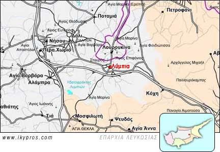 Χάρτης Κύπρου και τα Λύμπια