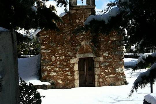 Ο Σωτήρας Χριστός χιονισμένος